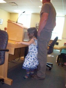 GW and his daughter testifying at the Agriculture Committee.
