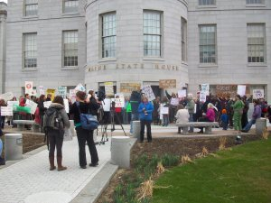 "Our ""Label GMOs"" Crowd at the Maine State House"